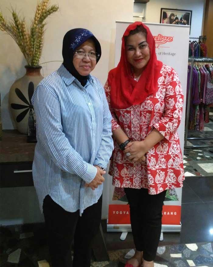 Ibu Tri Rismaharini dan Ibu Hevearita G